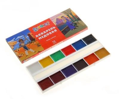 Акварель медовая 12 цветов Princess без кисти в картонной упаковке 749547