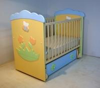 Детская кроватка -маятник Puffa Пчелка