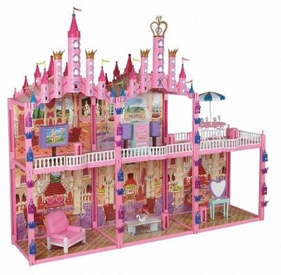 Замок для барби с мебелью 187 деталей