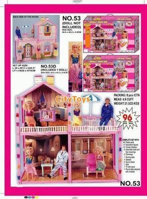 Дом для барби с куклой  96 деталей