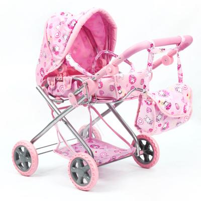 Коляска для куклы Melogo с сумкой и корзиной