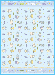 Одеяло байковое Гномики (85х115 см)