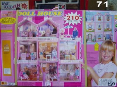 Дом для барби с мебелью и куклой 210 предметов