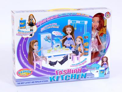Набор кухня +кукла