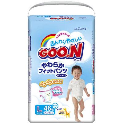 Трусики-подгузники Goon т 9 до 14 кг,46 шт.L