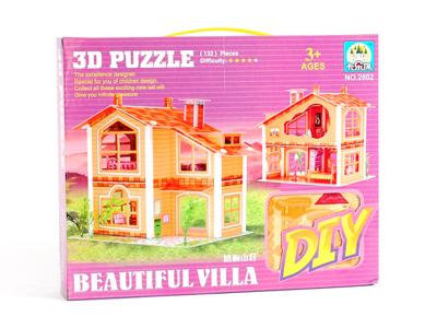 Дом из пазлов 3D 132 детали
