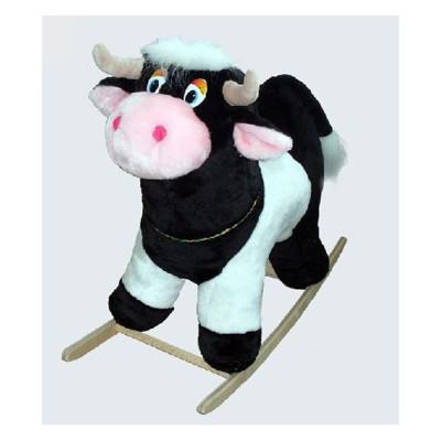 Качалка меховая коровка