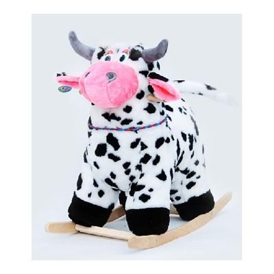 Качалка коровка меховая пятнистая тутси
