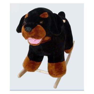 Качалка меховая Собака-Ротвейлер тутси