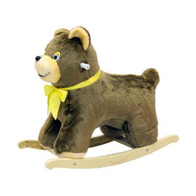 Качалка меховая Медведь тутси