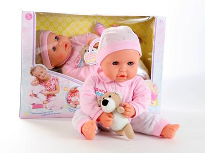 Кукла Пупс функциональная с пустышкой