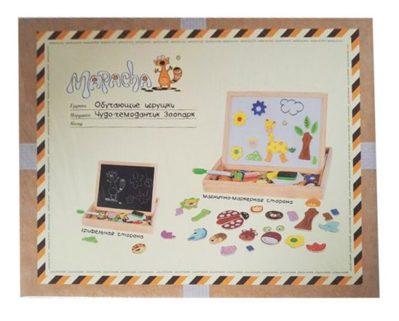 Доска для рисования с магнитами Mapacha Зоопарк 034434