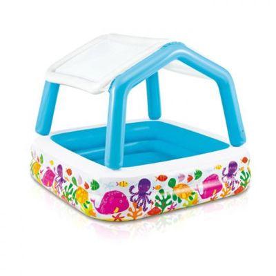 Детский бассейн Рыбки со съемным навесом 57470