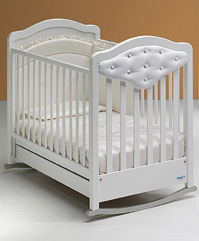 Кроватка - качалка  Gioco Vip со стразами