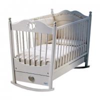 Детская кроватка-качалка  Molly Lux cо стразами +матрас