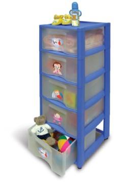 Комод для игрушек на колесиках 5 ящиков