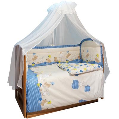Комплект для детской кроватки 7-ми предметный Облака