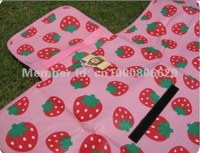 Детский коврик для пикника клубничка 180х160