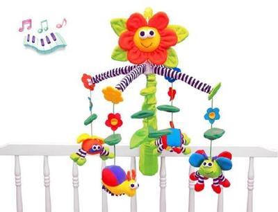 Мобиль музыкальнаяна кровать Цветочек 1206379
