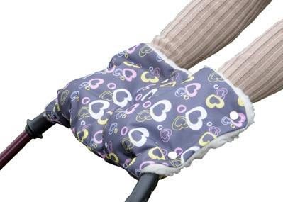 Муфта для рук на коляску меховая с рисунком Чудо Чадо
