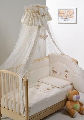 Комплект постельного белья 4 предмета  Real Bears Baby Italia