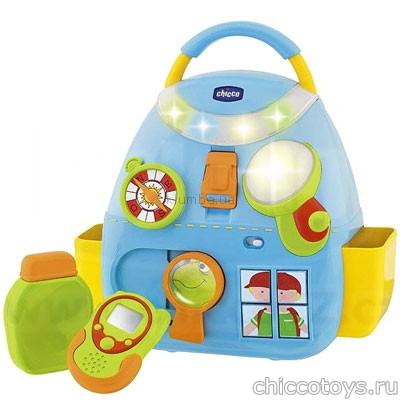 Музыкальный рюкзачок для мальчика Chicco
