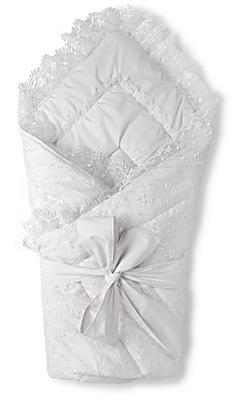Конверт-одеяло на выписку Люкс с вуалью (органза)