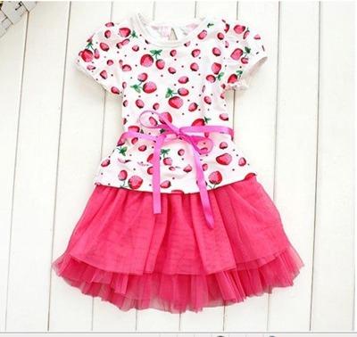 Платье  для девочки клубничка E-050804