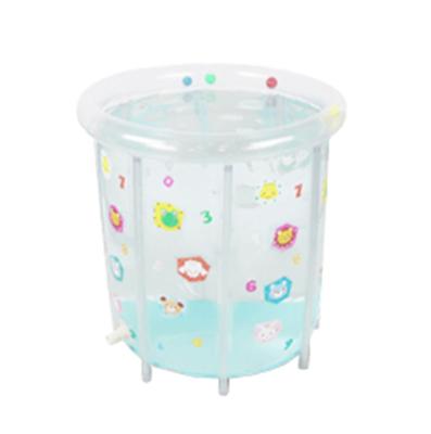 Детский надувной бассейн Прозрачный Mambobaby