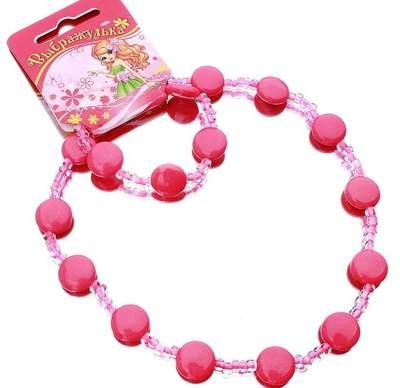 Бусы+браслет Выбражулька 71753 малютка бусинки розовый 560803